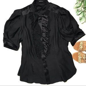 NANETTE LEPORE | sz 10 silk breaking heart top